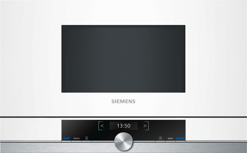Siemens BF634LGW1 vestavná mikrovlnná trouba, levý závěs, bílá