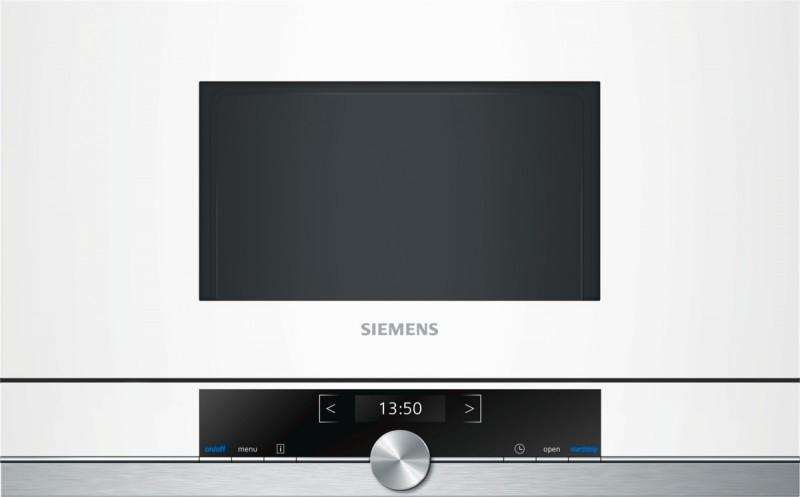 Siemens BF634RGW1 vestavná mikrovlnná trouba, bílá, pravý závěs