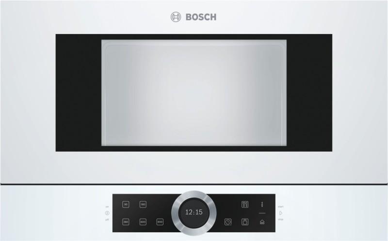 Bosch BFL634GW1 vestavná mikrovlnná trouba, levý závěs, bílá