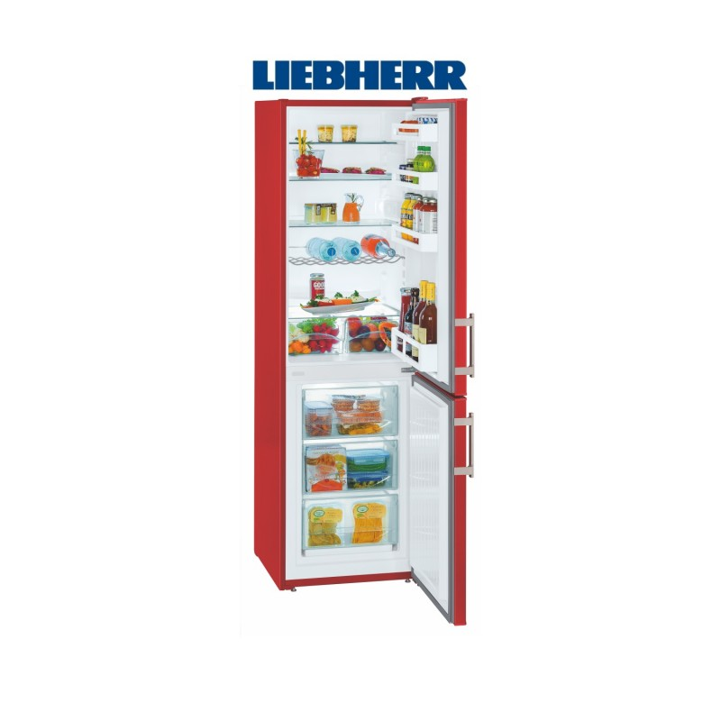Liebherr CUfr 3311 kombinovaná chladnička ColourLine, červená + Akce 5 let záruka zdarma