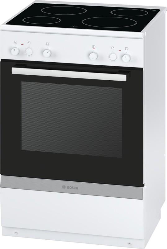 Bosch HCA722220 elektrický volně stojící sporák, bílá, 60 cm