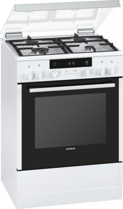 Siemens HX745225 plynový volně stojící sporák, bílá, 60 cm