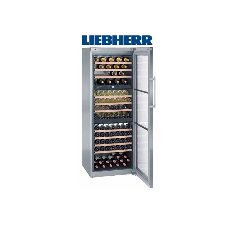 Liebherr WTes 5872 temperovaná vinotéka, 3 nezávislé teplotní zóny, nerez + Akce 5 let záruka zdarma