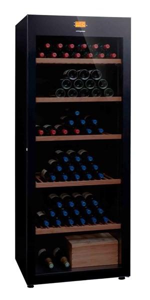 Avintage DVP305G vinotéka, archivační skříň, 294 lahví, černá