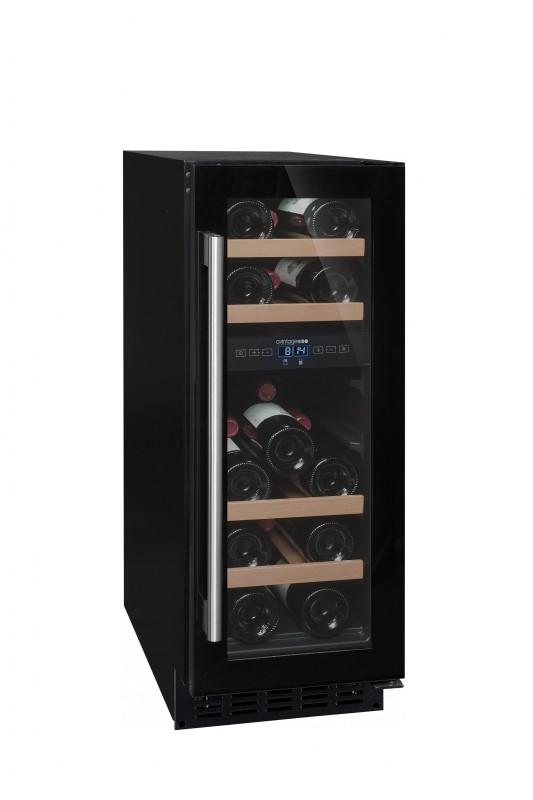 Avintage AV18CDZ vinotéka dvouzónová, 17 lahví, černá