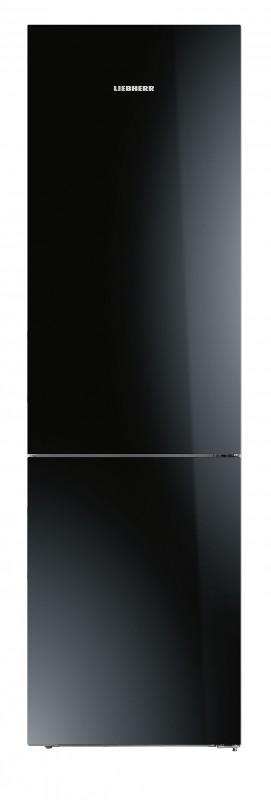 Liebherr CBNPgb 4855 kombinovaná chladnička, BioFresh, NoFrost, skleněné černé dveře + Akce 5 let záruka zdarma