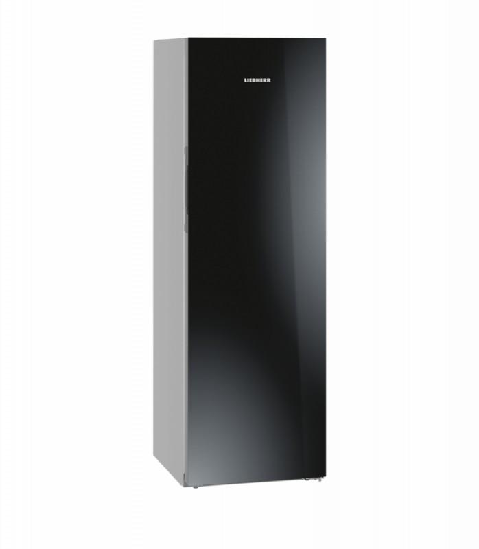Liebherr KBPgb 4354 kombinovaná chladnička, BluPerformance, černé sklo + Akce 5 let záruka zdarma
