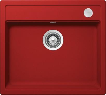 Schock Mono N-100 CRISTADUR Rouge granitový dřez horní montáž