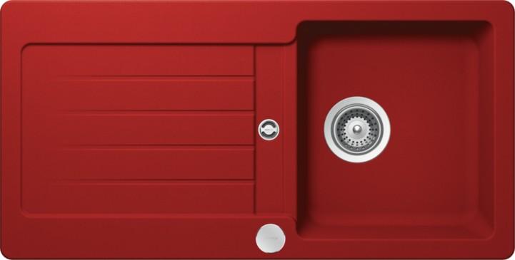 Schock Signus D-100S CRISTADUR Rouge granitový dřez horní montáž