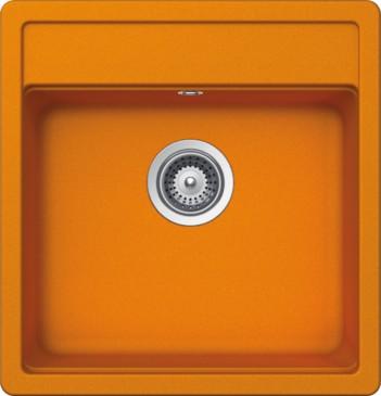 Schock Nemo N-100S CRISTALITE+ Bright Orange granitový dřez spodní montáž