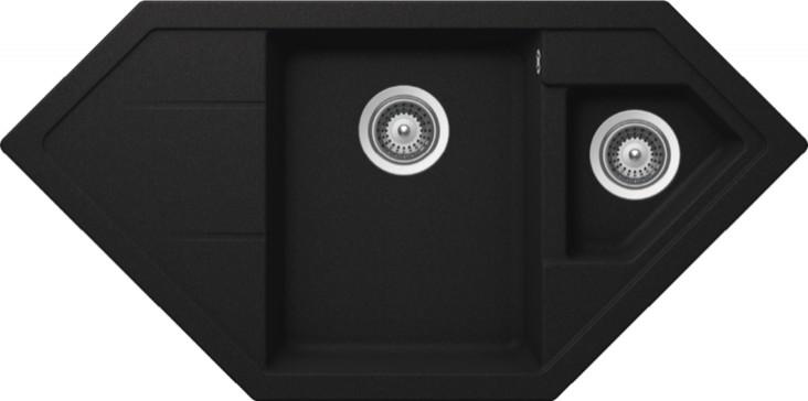 Schock Primus C-150 CRISTALITE+ Onyx granitový dřez horní montáž