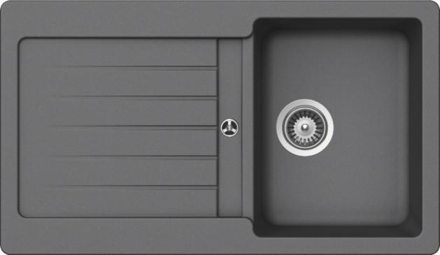 Schock Typos D-100 CRISTALITE+ Croma granitový dřez horní montáž