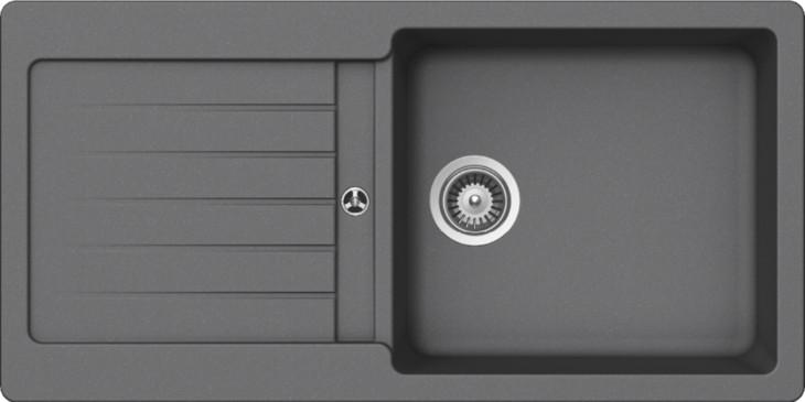Schock Typos D-100L CRISTALITE+ Croma granitový dřez spodní montáž