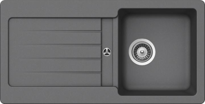 Schock Typos D-100S CRISTALITE+ Croma granitový dřez horní montáž