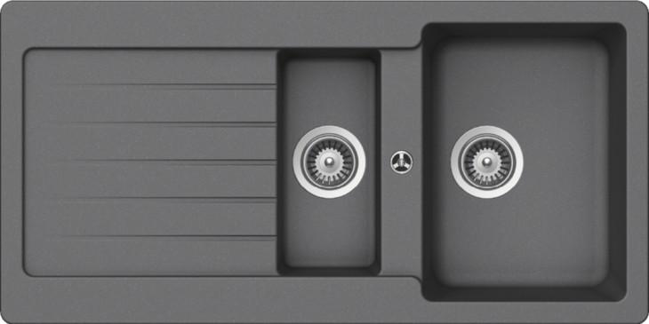 Schock Typos D-150 CRISTALITE+ Croma granitový dřez horní montáž + dárek Schock Univerzální skleněná krájecí deska, horní uložení 629036 zdarma