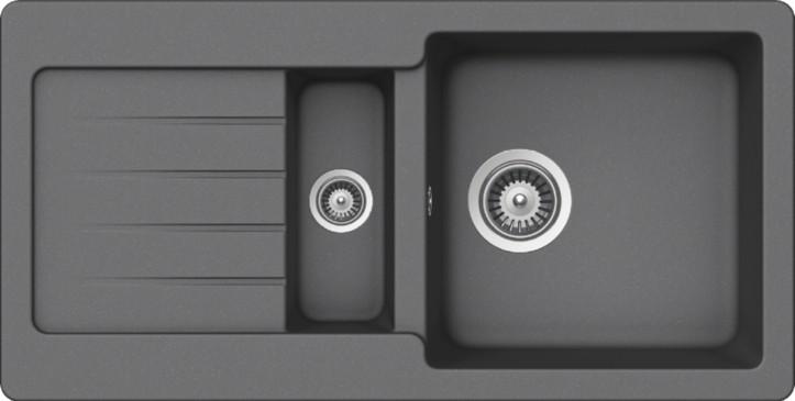 Schock Typos D-150S CRISTALITE+ Croma granitový dřez horní montáž