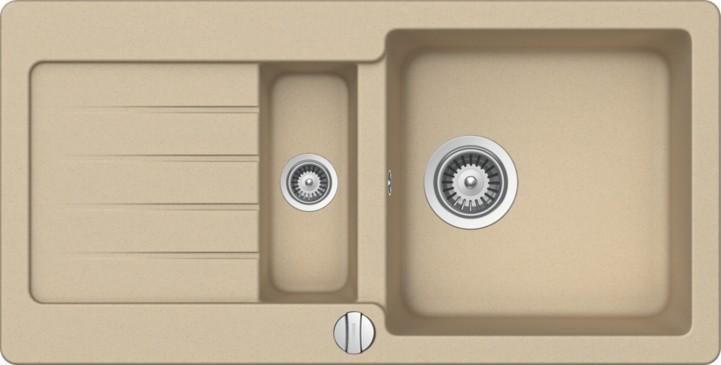 Schock Typos D-150S CRISTALITE+ Moonstone granitový dřez horní montáž