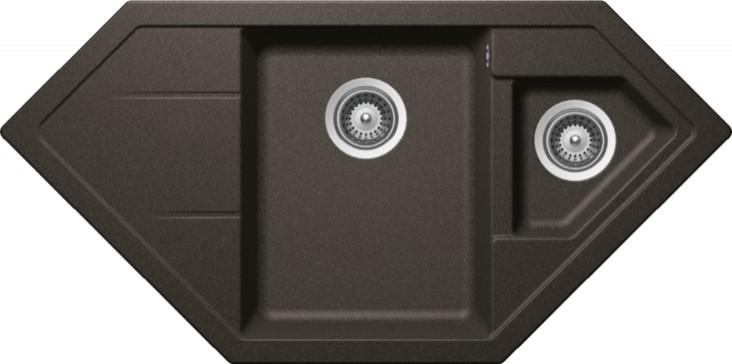 Schock Signus C-150 CRISTADUR Carbonium granitový dřez horní montáž