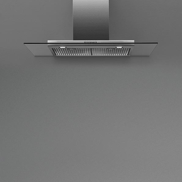 Falmec KRISTAL TOP FASTEEL nástěnný 90 cm 800 m3/h