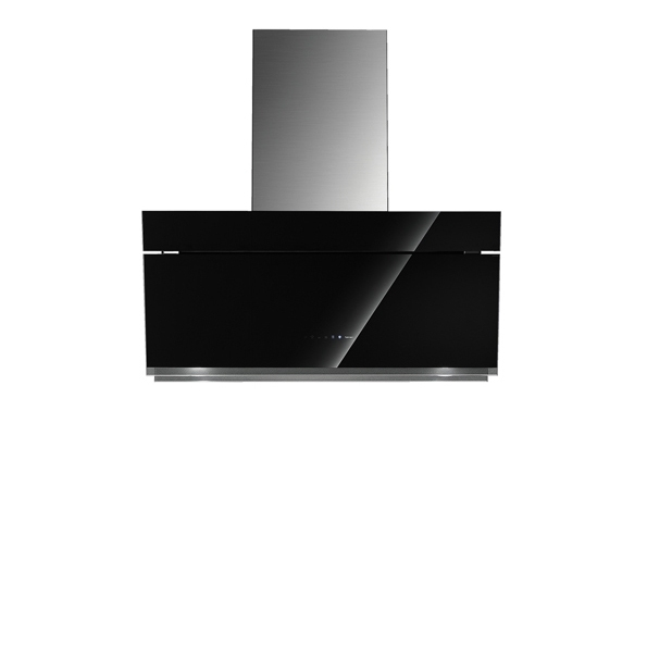 Falmec BUTTERFLY DESIGN+ nástěnný černý 90 cm 800 m3/h