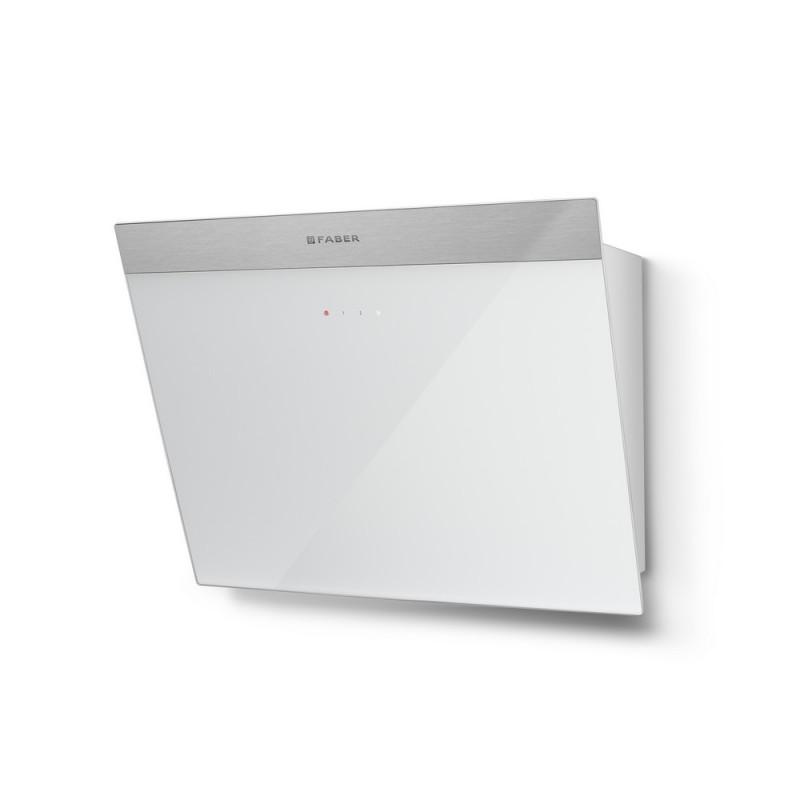 Faber DAISY EG6 WH A55 nerez / bílé sklo s nerez páskem + Akce 5 let záruka zdarma