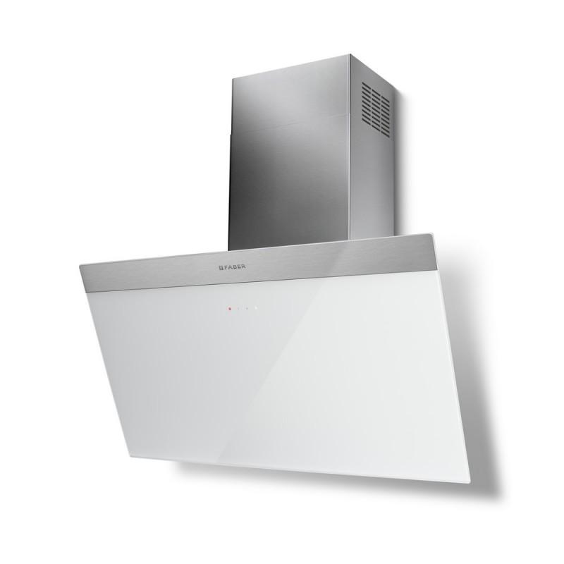 Faber DAISY EG6 WH A80 nerez / bílé sklo s nerez páskem + Akce 5 let záruka zdarma