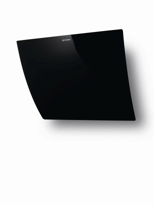 Faber VERSUS BK A80 nerez / černé sklo + Akce 5 let záruka zdarma