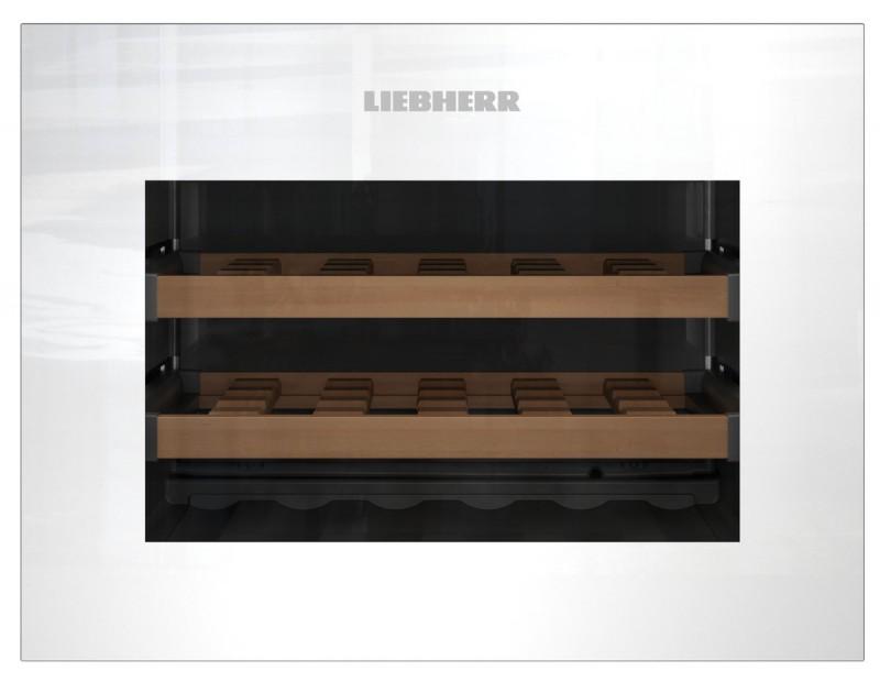 Liebherr WKEgw 582 vestavná kompaktní klimatizovaná vinotéka, bezúchytková, bílá + Akce 5 let záruka zdarma