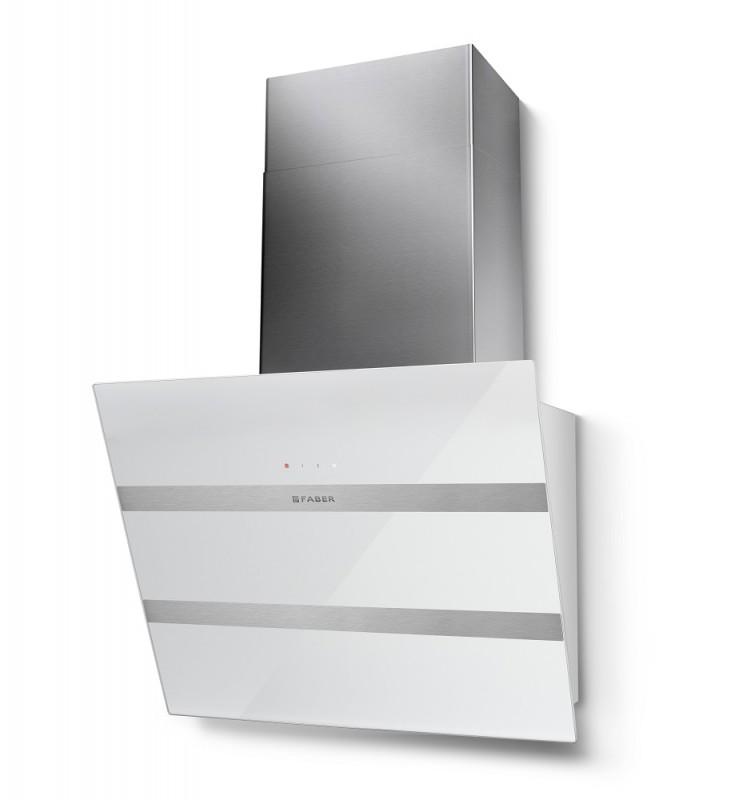 Faber STEELMAX EV8 WH/X A55 bílá / bílé sklo + Akce 5 let záruka zdarma