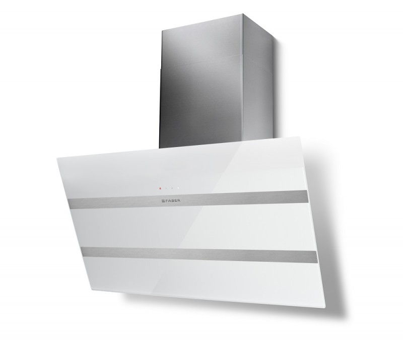Faber STEELMAX EV8 WH/X A80 bílá / bílé sklo + Akce 5 let záruka zdarma