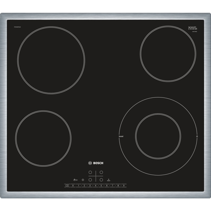 Bosch PKF645FN1E sklokeramická varná deska, černá, 60 cm