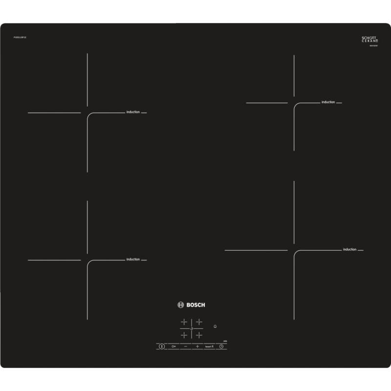Bosch PUE611BF1E indukční varná deska, černá, 60 cm