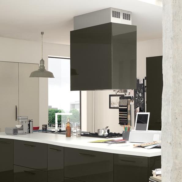 Falmec LAGUNA DESIGN+ černý ostrůvkový 90 cm 800 m3/h
