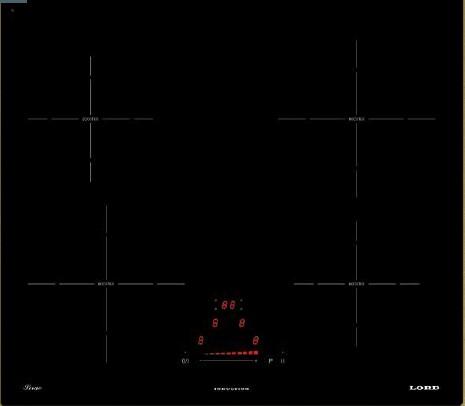 Lord IH 6040 Sirae - indukční varná deska, černá, 60 cm