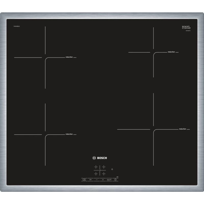 Bosch PIE645BB1E indukční deska s rámečkem nerez, 60 cm, černá