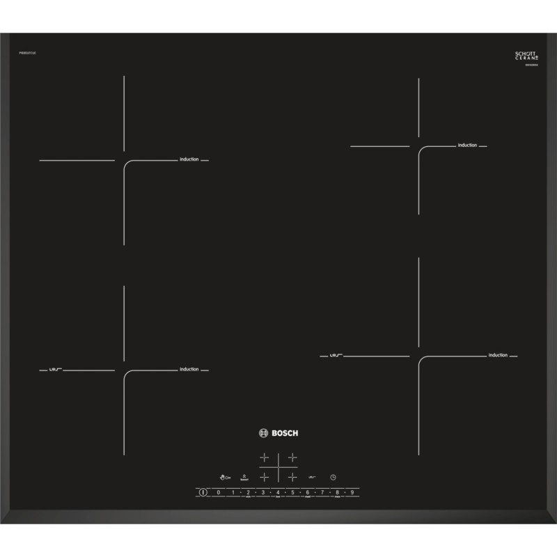 Bosch PIE651FC1E indukční senzorová varná deska, 60 cm, černá