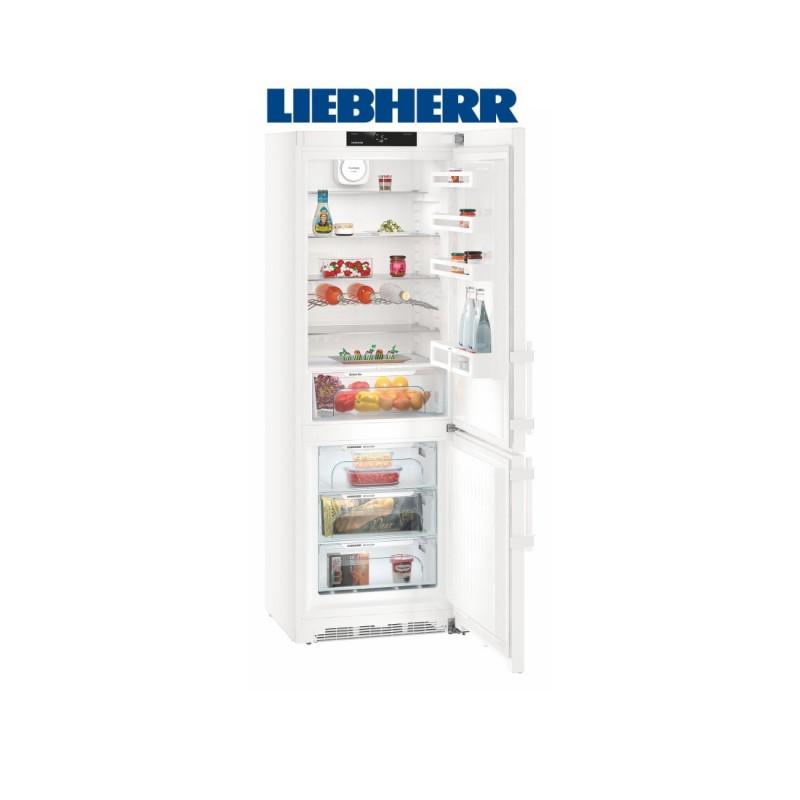 Liebherr CN 5715 kombinovaná chladnička, stříbrná, NoFrost, A+++ + Akce 5 let záruka zdarma