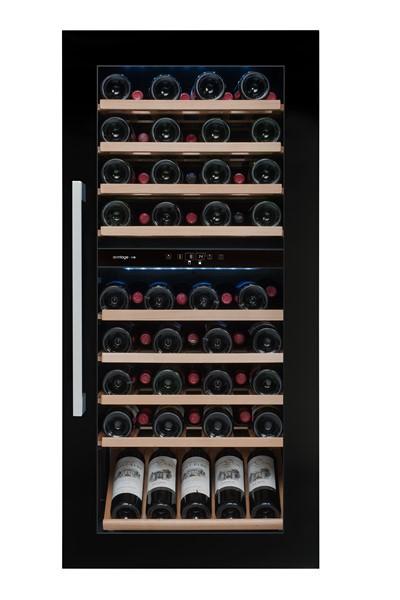 Avintage AVI82CDZ vestavná vinotéka dvouzónová, 79 lahví, černá