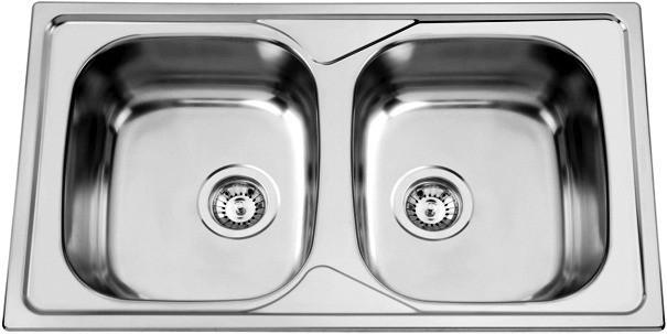 Sinks Sinks OKIO 860 DUO V 0,6mm leštěný