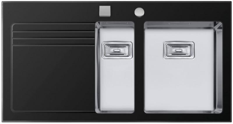 Sinks Sinks GLASS 1000.1 černý pravý 1,2mm