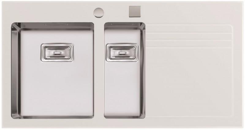 Sinks Sinks GLASS 1000.1 bílý levý 1,2mm