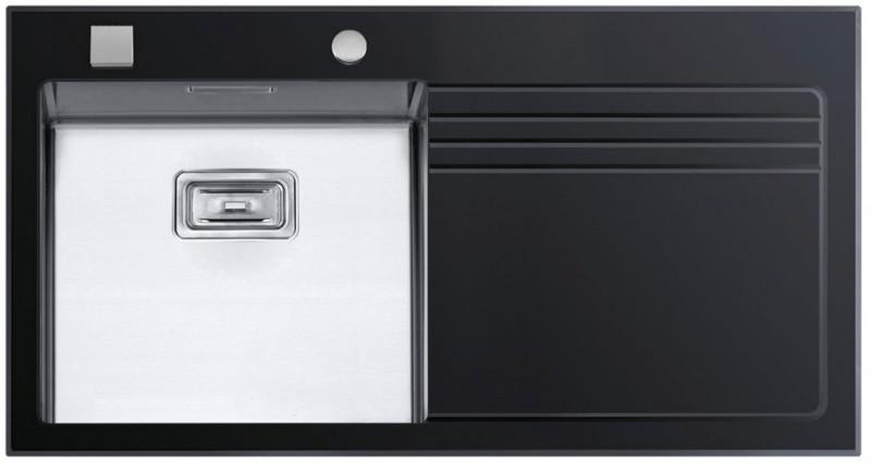 Sinks Sinks GLASS 1000 černý levý 1,2mm