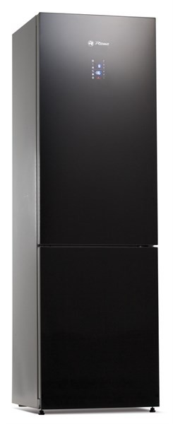 Romo CR340VEGBA++ kombinovaná chladnička/mraznička, černé sklo, A++