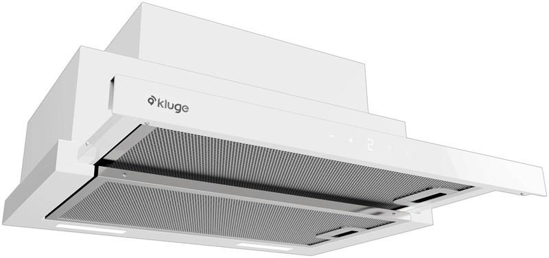Kluge KOT6010WHG Slide touch white 60 odsavač výsuvný, 60 cm