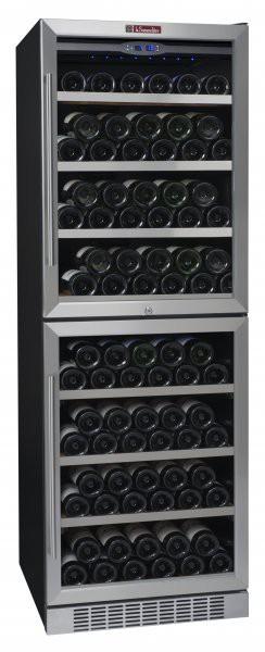 La Someliere TR2V150 vinotéka dvouzónová, archivační skříň na víno, 211 lahví, stříbrná