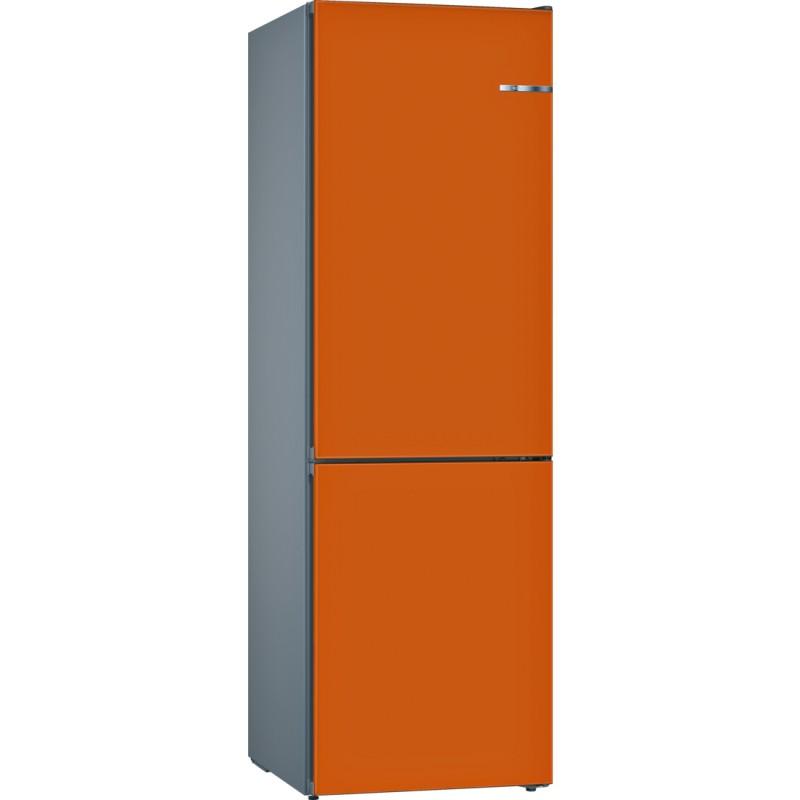 Bosch KVN39IO4A kombinace chladnička/mraznička, NoFrost , VitaFresh, A+++, oranžová