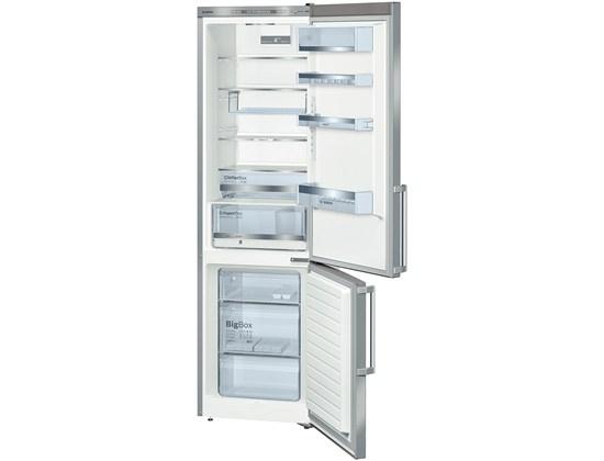 Bosch KGE39BI41 POUZE 34dB, 201 cm, chlad. 250l, mraz. 89l,(2 chladící okruhy), A+++, nerez + dárek Bosch MFQ3020 ruční mixér zdarma