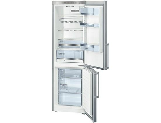 Bosch KGE36AI42 186 cm, chlad. 215l, mraz. 89l,2 chladící okruhy, A+++, nerez - EcoProdukt + dárek Bosch MFQ3020 ruční mixér zdarma