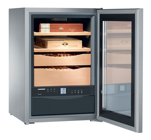 Liebherr ZKes 453 Humidor, objem 43 l, dřevěné rošty, prosklené dveře, nerezová + Akce 5 let záruka zdarma