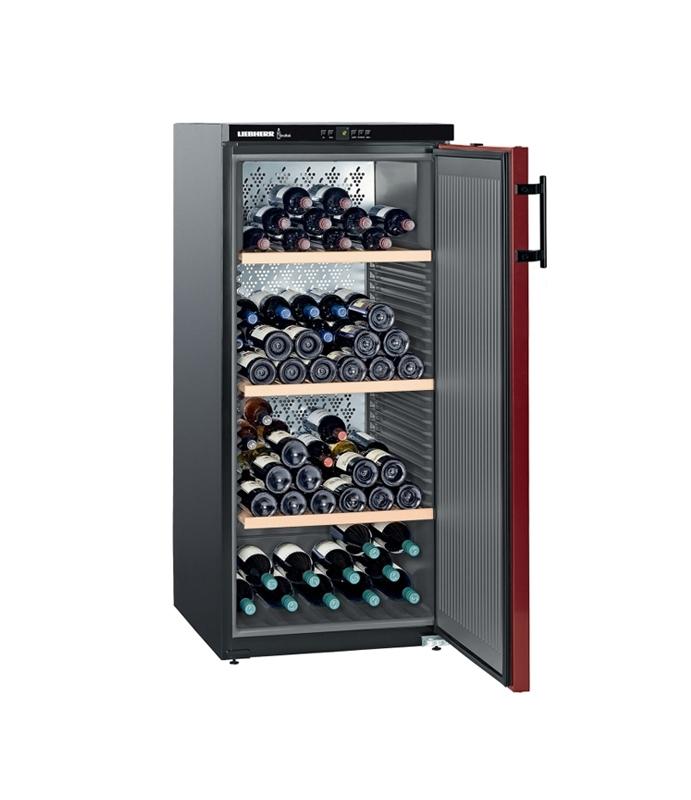 Liebherr WKr 3211 Vinothek, volněstojící vinotéka, boky černé, dveře bordó + Akce 5 let záruka zdarma